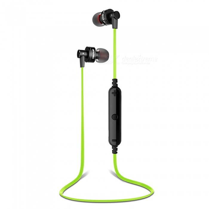 Awei A990BL Sports Wireless Bluetooth Stereo Earphones Noise Reduction Headset with Microphone - Green