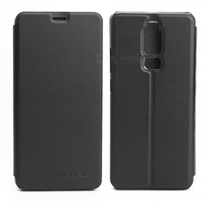 OCUBE Protective Flip-open PU Leather Case for Leagoo S8  5.7 Inches - BlackLeather Cases<br>ColorBlackModelLeagoo S8MaterialPC+PUQuantity1 pieceShade Of ColorBlackCompatible ModelsLeagoo S8FeaturesAnti-slip,Dust-proof,Shock-proof,Abrasion resistancePacking List1 x Phone Case<br>