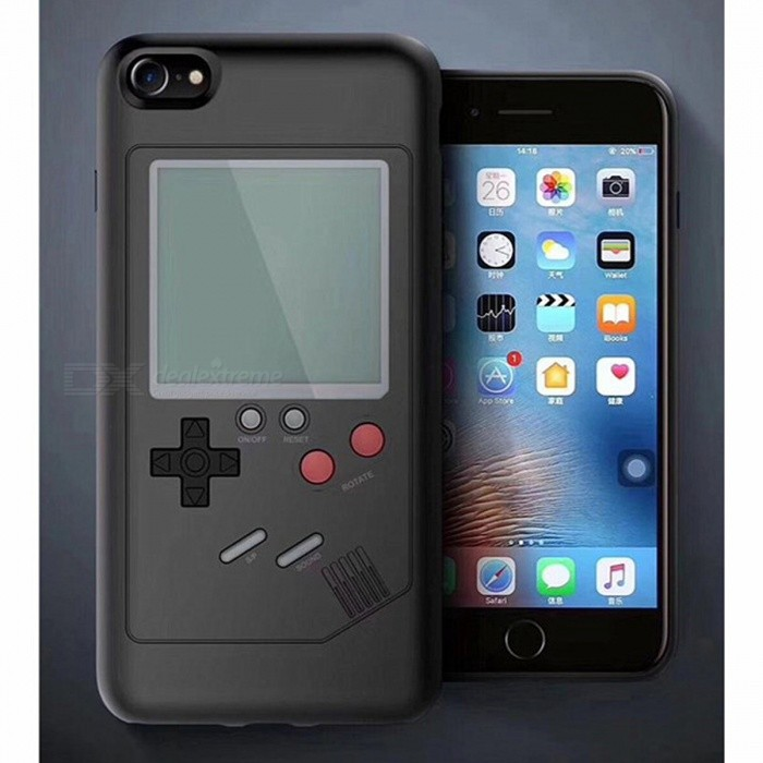 Creative Retro Game Console Style Protective Back Case Cover Built-in Game for IPHONE 6, 7, 8 - BlackPlastic Cases<br>ColorBlackModel003MaterialPlasticQuantity1 pieceShade Of ColorBlackCompatible ModelsApple mobile phonePacking List1 x Mobile phone case<br>