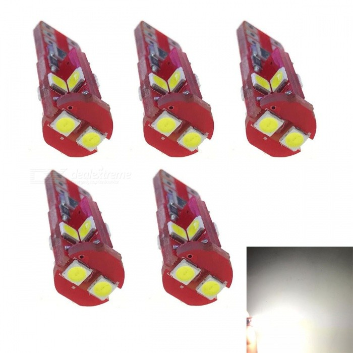 JRLED T10 3W Cold White Light 3030 10-SMD LED Indicator Lamps (5 PCS)Car Interior Lights<br>Quantity10 LEDQuantity5 piecesMaterialsoft fiber+LEDPower3 WWorking VoltageDC12VConnectorOthers,T10Bulb Specification3030 SMDBrightness300LmColor BIN6000KApplicationOthers,reading lamp Wide lightSuitable forUniversalCertificationCE, RoHSPacking List5 x T10 DC12V LED lamps<br>