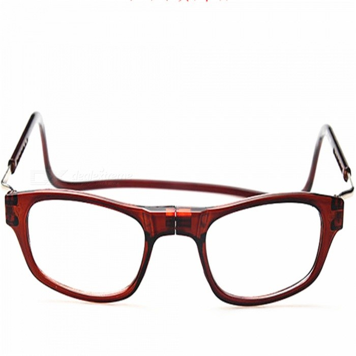 Convenient Magnetic Hanging Neck Type Reading Glasses for Elderly, Parents - BrownReading Eyeglasses<br>ColorBrownQuantity1 pieceMaterialPCLens MaterialPCLens Power100 dioptersGenderUnisexSuitable forOthers,ElderlyFrame Height3.5 cmLens Width5.1 cmBridge Width1.7 cmOverall Width of Frame15 cmPacking List1 x Glasses<br>