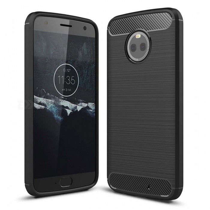 Dayspirit Wire Drawing Carbon Fiber TPU Back Case for Motorola Moto X4 - BlackTPU Cases<br>ColorBlackModelN/AMaterialTPUQuantity1 pieceShade Of ColorBlackCompatible ModelsMotorola Moto X4Packing List1 x Case<br>