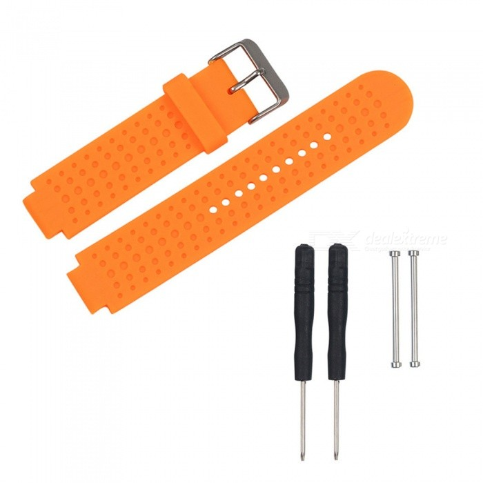Replacement Smart Watch TPE Strap For Garmin Forerunner 230/235/630/735 - OrangeWearable Device Accessories<br>ColorOrangeModelN/AQuantity1 setMaterialTPEPacking List1 x Strap2 x Screws2 x Screwdrivers<br>