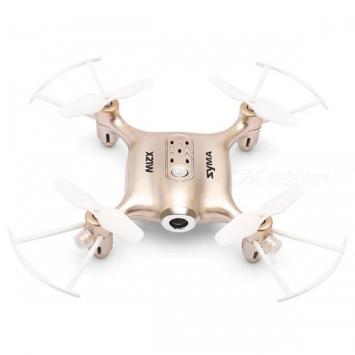 SYMA X21W WIFI FPV 4CH 6 Aixs Gyro RC Quadcopter RTF with Altitude Hold Mode - BlueR/C Airplanes&amp;Quadcopters<br>ColorGoldenModelX21WMaterialPlasticQuantity1 setGyroscopeYesChannels Quanlity4 channelFunctionOthers,3D rollover,Forward/backward,One Key Landing,One Key Taking Off,Sideward flight,Slow down,Speed up,Turn left/right,Up/downRemote TypeRadio ControlRemote control frequency2.4GHzRemote Control Range25 mSuitable Age 12-15 years,Grown upsCameraYesCamera Pixel0.3MPLamp YesBattery TypeAABattery Capacity380 mAhCharging Time90 minutesWorking Time5 minutesRemote Controller Battery TypeAARemote Controller Battery Number4 x 1.5V AA battery(not included)Remote Control TypeWirelessModelMode 2 (Left Throttle Hand)Packing List1 x Drone ( Battery Included )1 x Transmitter1 x Mobile Phone Holder1 x USB Cable1 x Screwdriver4 x Spare Propeller1 x English Manual<br>