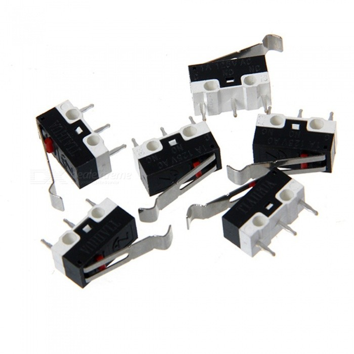 ZHAOYAO 10 Pieces 1A 125V AC Limit Switch Lever Parts MK7 MK8 3D Printer Parts Tripod Micro Switches