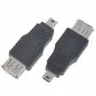 Mini USB On-The-Go Host OTG Adapter - Black (2PCS)