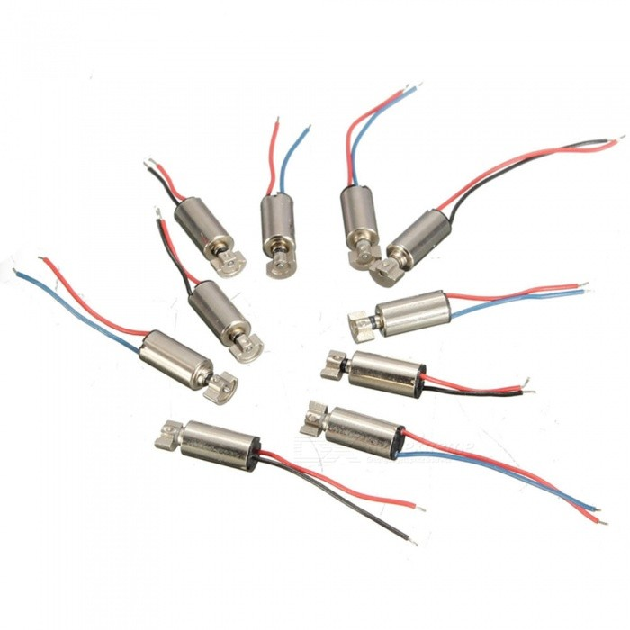 ZHAOYAO 10PCS 4x8mm DC 1.5-3V Micro Cell Phone Coreless Vibration Motors for SANYOMotors<br>Quantity10pcsModel-Quantity1 setMaterialMetal, PlasticRate Voltage-Power Range-Input Voltage- VRevolutions Per Minute (RPM)-Working Current- AWorking Temperature- ?English Manual / SpecNoDownload Link   -Certification-Other Features-Packing List10 x Micro Coreless Vibrating Motors<br>