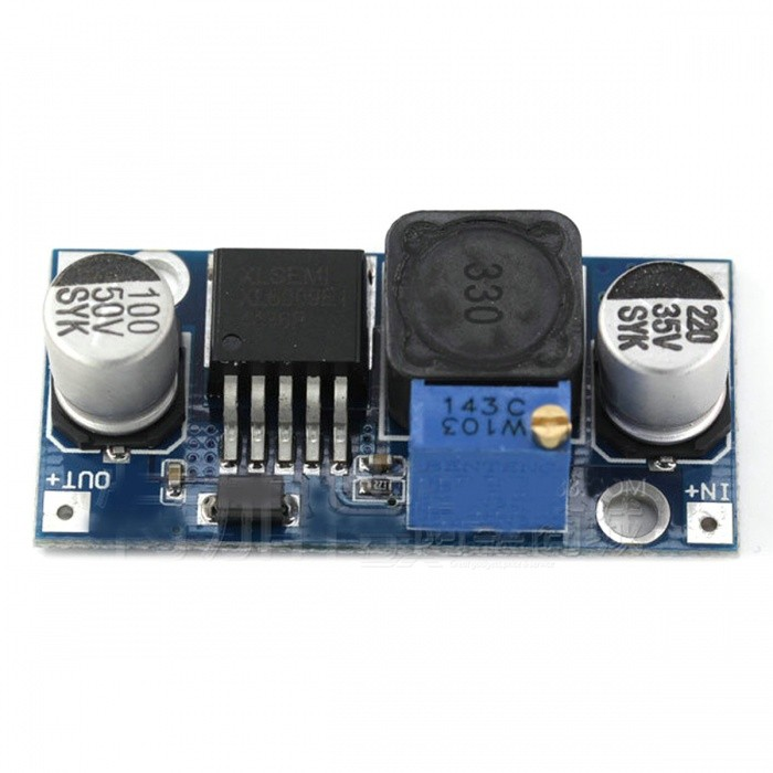 ZHAOYAO XL6009 DC-DC Step-Up Power Module Output Adjustable Ultra LM2577 4A CurrentDIY Parts &amp; Components<br>ColorBlack + blueQuantity1 pieceMaterialPlastic + Electronic ComponentsEnglish Manual / SpecNoCertification-Packing List1 x Module<br>