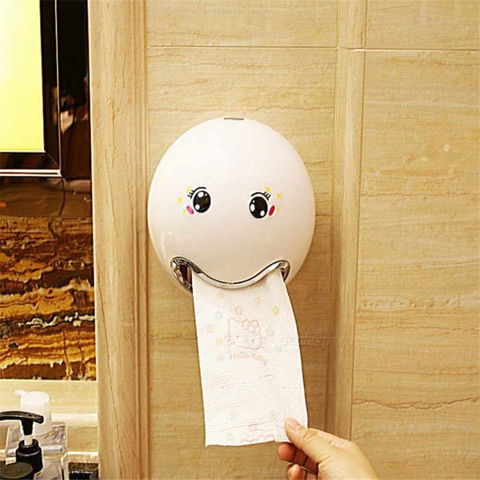 Creative Facial Expression Tissue Boxes Bathroom Toilet Canister Waterproof Paper Box Holder