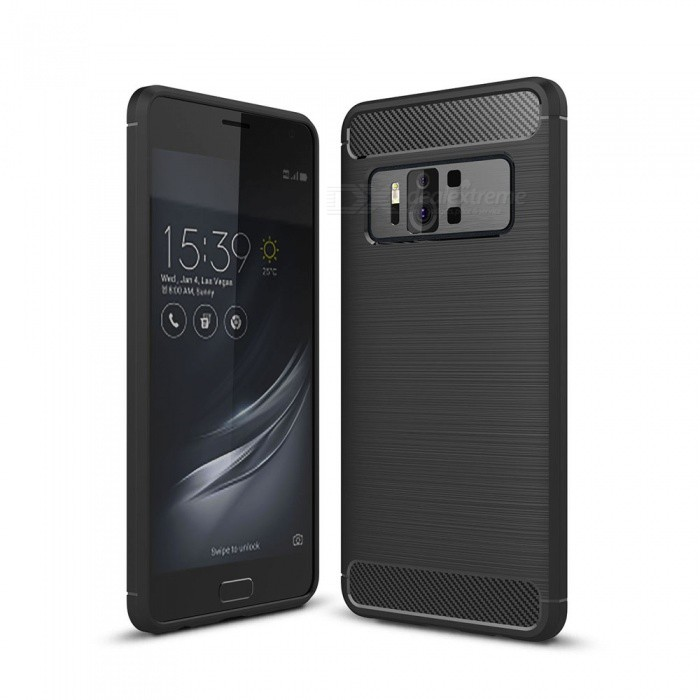 Dayspirit Wire Drawing Carbon Fiber TPU Back Case for Asus Zenfone AR ZS571KL - BlackTPU Cases<br>ColorBlackModelN/AMaterialTPUQuantity1 pieceShade Of ColorBlackCompatible ModelsAsus Zenfone AR ZS571KLPacking List1 x Case<br>