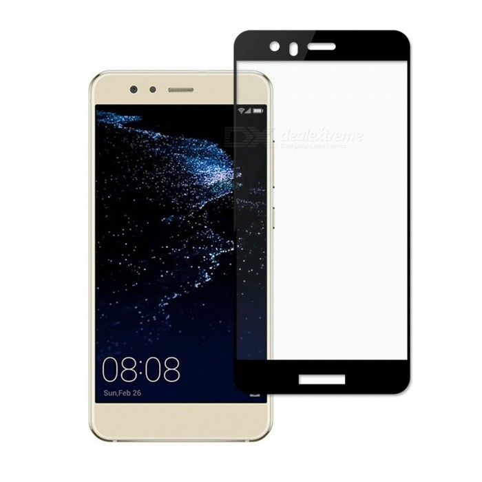 Dayspirit Tempered Glass Screen Protector for Huawei P10 Lite - BlackScreen Protectors<br>ColorBlackModelN/AMaterialTempered glassQuantity1 setCompatible ModelsHuawei P10 LitePacking List1 x Tempered glass screen protector1 x Dust cleaning film 1 x Alcohol prep pad<br>