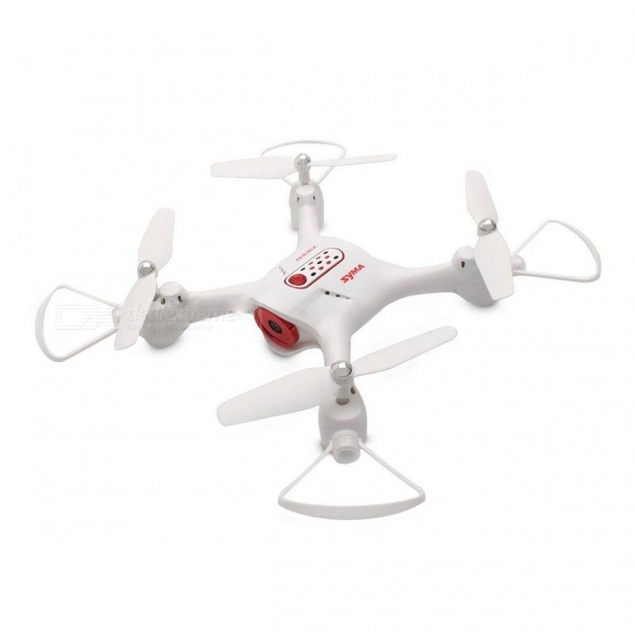 Syma X23 2.4GHz 4CH Altitude Holder Headless Mode Fashion 3D Flip Quadcopter Helicopter Mini Drone without Camera - WhiteR/C Airplanes&amp;Quadcopters<br>ColorWhiteModelX23MaterialPlasticQuantity1 setGyroscopeYesChannels Quanlity4 channelFunctionOthers,Forward/backward,One Key Landing,One Key Taking Off,Sideward flight,Turn left/right,Up/downRemote TypeRadio ControlRemote control frequency2.4GHzRemote Control Range25 mSuitable Age 8-11 years,12-15 years,Grown upsCameraNoLamp YesBattery TypeLi-ion batteryBattery Capacity500 mAhCharging Time130 minutesWorking Time7 minutesRemote Controller Battery TypeAARemote Controller Battery Number4 x AA battery ( not included )Remote Control TypeWirelessModelMode 2 (Left Throttle Hand)Packing List1 x RC Drone (Battery Included)1 x Transmitter1 x USB Cable4 x Propeller4 x Propeller Protector1 x English Manual<br>