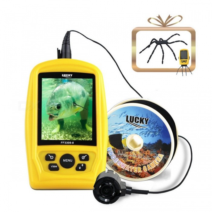 LUCKY Portable Underwater Fishing &amp; Inspection Camera System with CMD SensorColorYellowModelN/AQuantity1 setMaterialABSPacking List1 x Fish finder<br>