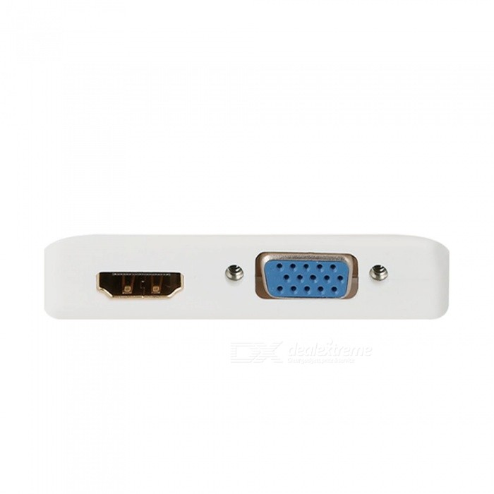 USB Type-C to HDMI VGA Converter for Projector TV MacBook - White