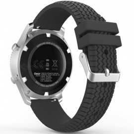 Miimall Soft Silicone Replacement Sport Strap Watch Band for Samsung Gear S3 Frontier / S3 Classic Smart Watch