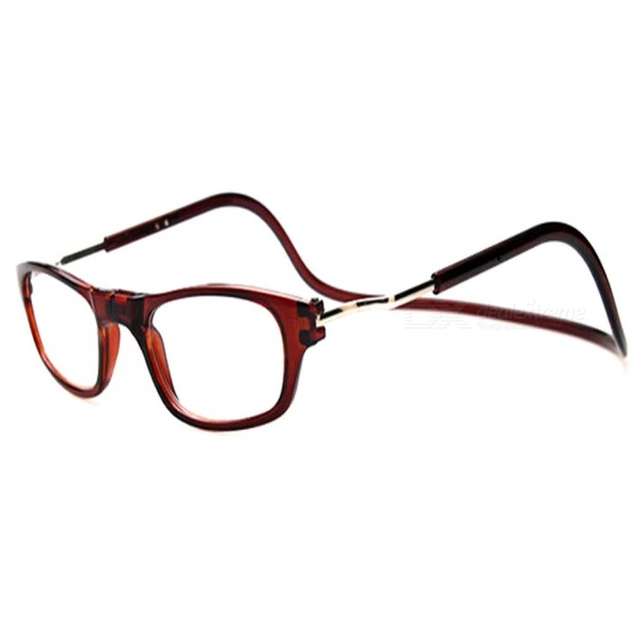Portable Magnetic Hanging Neck Type Reading Glasses for Elderly Old Man Parents - 4.0DReading Eyeglasses<br>Lens4.0DQuantity1 piecesMaterialPCFrame MaterialPCLens MaterialResinGenderUnisexSuitable forOthers,The old manFrame Height3.5 cmLens Width5.1 cmBridge Width1.7 cmOverall Width of Frame15 cmPacking List1 x Glasses<br>