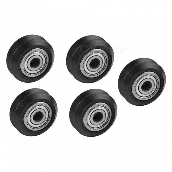 5PCS Openbuilds Plastic Wheel POM with 625zz MR105zz Idler Pulley Gear Passive Round Wheel Perlin Wheel V Type for V-Slot3D Printer Parts<br>ModelType VModelOpenbuilds plastic pulleyQuantity1 setMaterialOpenbuilds Plastic + MetalEnglish Manual / SpecNoCertification-Packing List5 x Plastic Wheels<br>