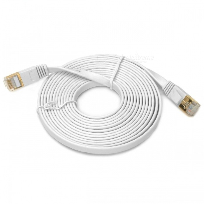 Kitbon Gold-plated Cat.7 RJ45 10Gbps High Speed Ultra Flat LAN Network Cable (3m) - WhiteNetwork Cables and Adapters<br>Form  ColorWhite (3m)Quantity1 pieceMaterialPVCInterfaceRJ45Packing List1 x Network Cable<br>