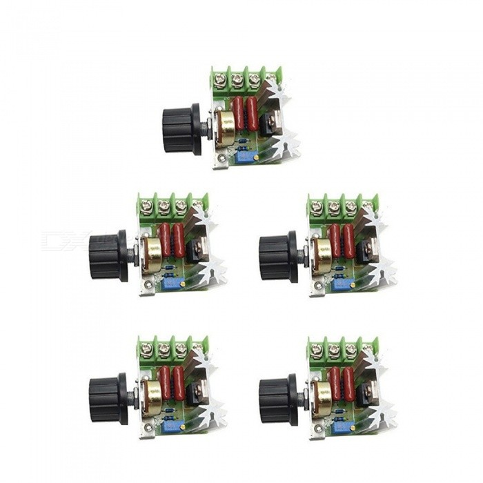 ZHAOYAO 5PCS 2000W Thyristor High Power Electronic Voltage Regulation BoardsDIY Parts &amp; Components<br>Bundles5PCSQuantity1 setMaterialElectronic componentEnglish Manual / SpecNoCertification-Packing List5 x Boards<br>