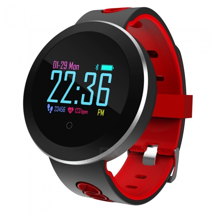 Q8 Pro Sports Color Screen Smart Bracelet IP68 Waterproof, Blood Pressure, Heart Rate Monitoring, Sleep Monitoring - RedSmart Bracelets<br>ColorRedModelQ8 PROQuantity1 piecesMaterialSilica gelWater-proofIP68Bluetooth VersionBluetooth V4.0Touch Screen TypeOthers,OLEDOperating SystemAndroid 4.4,iOSCompatible OSAndroid iOSBattery Capacity110 mAhBattery TypeLi-ion batteryStandby Time15 daysPacking List1 x Smart Bracelet1 x Power Adapter1 x User Manual<br>