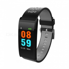 X20-096-Inches-Color-Screen-Smart-Band-Bracelet-w-Blood-Pressure-Monitor-Fitness-Tracker-Black