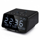 LED-Digital-Alarm-Clock-with-FM-RadioWireless-Bluetooth-PlayerUSB-Fast-Charge-Port-TF-Card-PlayTemperature-and-Date-Display