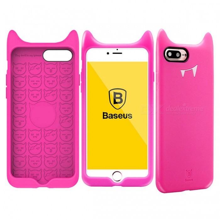 BASEUS Anti-Scratch Anti-Slip Cute Silicone Cell Phone Case for IPHONE X - Rose RedSilicone Case<br>ColorRose RedModelN/AMaterialSiliconeQuantity1 setShade Of ColorPinkCompatible ModelsIPHONE XFeaturesAnti-slip,Dust-proofPacking List1 x Case<br>