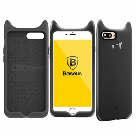 BASEUS-Anti-Scratch-Anti-Slip-Cute-Silicone-Cell-Phone-Case-for-IPHONE-7-PLUS-8-PLUS-Black