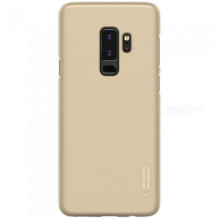 NILLKIN PC Hard Plastic Case for Samsung Galaxy S9 Plus - GoldPlastic Cases<br>ColorGoldModelSamsung Galaxy S9+ModelNSXS9PLHD06MaterialPlasticQuantity1 pieceShade Of ColorGoldFeaturesAnti-slip,Shock-proof,Abrasion resistanceCompatible ModelsSamsung Galaxy S9+Packing List1 x NILLKIN Super Frosted Shield1 x Screen Protector<br>