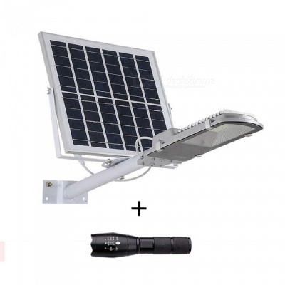 ZHAOYAO 10W Solar Powered Outdoor Smart Light Activated LED Street Lamp + T6 Flashlight