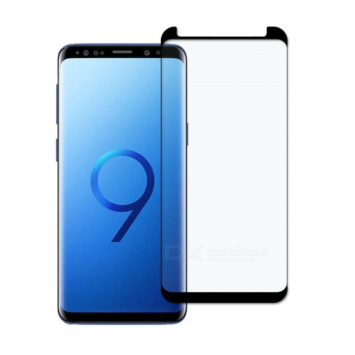 Dayspirit Full Screen Curved Tempered Glass Film Screen Protector for Samsung Galaxy S9 - BlackScreen Protectors<br>ColorBlackModelN/AMaterialTempered glassQuantity1 setCompatible ModelsSamsung Galaxy S9FeaturesTempered glassPacking List1 x Tempered glass screen protector1 x Dust cleaning film 1 x Alcohol prep pad<br>