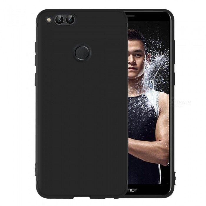 Dayspirit Protective Matte Frosted TPU Back Case for Huawei Honor 7X - BlackTPU Cases<br>ColorBlackModelN/AMaterialTPUQuantity1 pieceShade Of ColorBlackCompatible ModelsHuawei Honor 7XPacking List1 x Case<br>