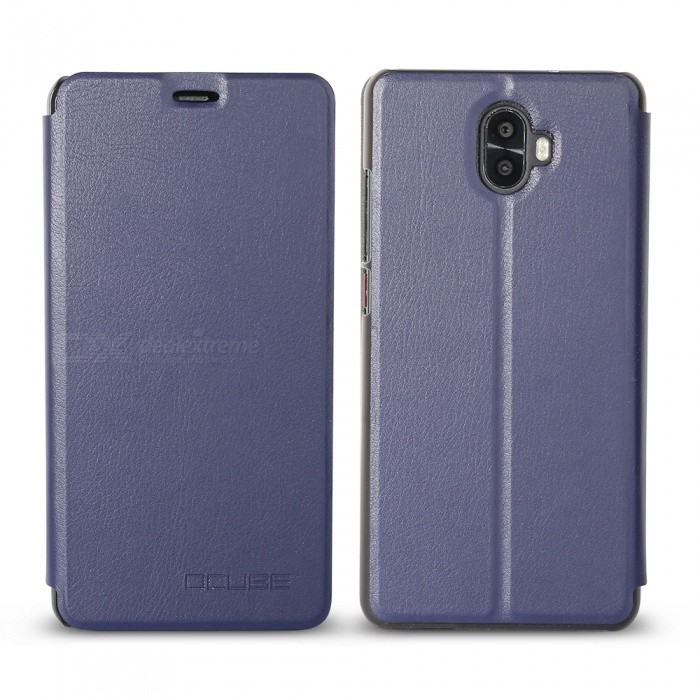 OCUBE Protective Flip-open PU Leather Case for Oukitel K8000 5.5 Inches - BlueLeather Cases<br>ColorBlueModelOukitel K8000MaterialPC+PUQuantity1 pieceShade Of ColorBlueCompatible ModelsOukitel K8000FeaturesAnti-slip,Dust-proof,Shock-proof,Abrasion resistancePacking List1 x Phone Case<br>