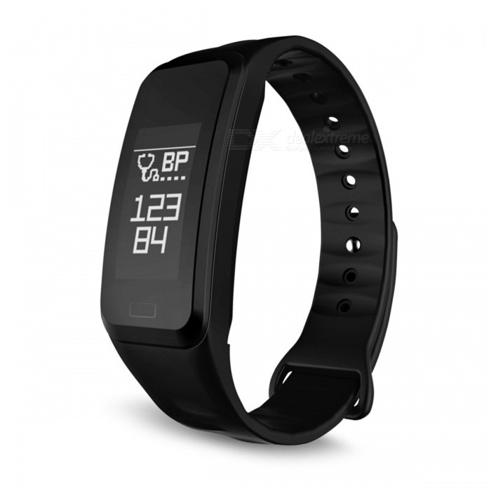 R1 Bluetooth Smart Bracelet Heart Rate Blood Pressure Monitor IP67 Waterproof Smart Band - BlackSmart Bracelets<br>ColorBlackModelR1Quantity1 setMaterialPlasticWater-proofIP65Bluetooth VersionBluetooth V4.0Touch Screen TypeOthers,OLEDCompatible OSIOS 8.0 and above, Android 4.3 and above (with Bluetooth 4.0)Battery Capacity85 mAhBattery TypeLi-polymer batteryStandby Time7 daysPacking List1 x Smart Band1 x Charging Cable1 x User Manual<br>