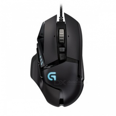 Logitech G502 Professional Gaming Mouse Mice with 11 Programmable Buttons, DPI Adjustment - Black