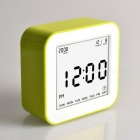 Large-LCD-Display-Square-Flip-Type-Digital-Alarm-Clock-with-Automatic-Backlit-Function-Green