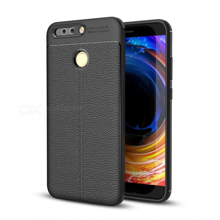 Dayspirit Lichee Pattern Protective TPU Back Cover Case for Huawei Honor 8 Pro , V9 - Black