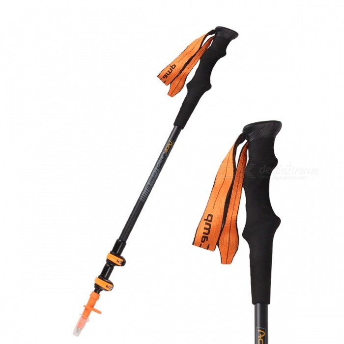 AceCamp Carbon 30per / 80per  External Lock Trekking Pole, Telescopic Ultralight Hiking Walking Stick Cane with Tips Protector