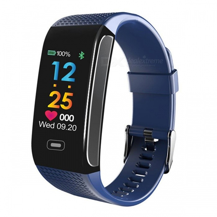 Ck18 Bluetooth IP67 Waterproof Color Screen Waterproof Smart Bracelet Fitness Tracker - BlueSmart Bracelets<br>ColorblueModelCK18SQuantity1 pieceMaterialTPEWater-proofIP67Bluetooth VersionBluetooth V4.0Touch Screen TypeIPSOperating SystemAndroid 4.4,iOSCompatible OSAndroid IOSBattery Capacity85 mAhBattery TypeLi-ion batteryStandby Time15 daysPacking List1 x Instruction1 x Bracelet1 x USB charging cable<br>