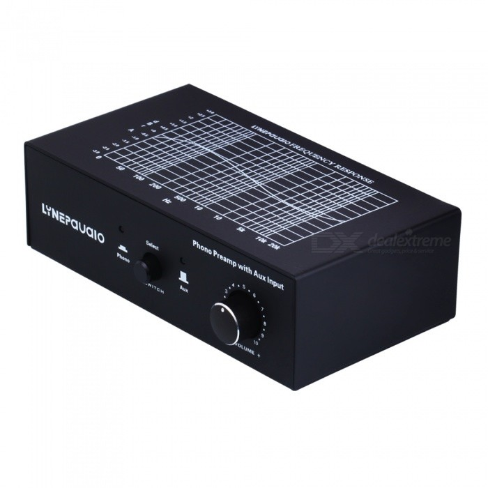 PHONO Phonographic Signal Amplifier with Auxiliary Input and Volume ControlAV Adapters And Converters<br>ColorBlackModelB855MaterialPlastic metalQuantity1 setConnectorOthersPacking List1 x PHONO prephonograph signal amplifier with auxiliary input and volume control1 x 110V-240V DC12V power supply (wire length 100cm)1 x Stereo RCA to RCA wire gold-plated interface (wire length 150cm)1 x 3.5mm stereo RCA wire gold-plated interface (wire length 20cm)<br>