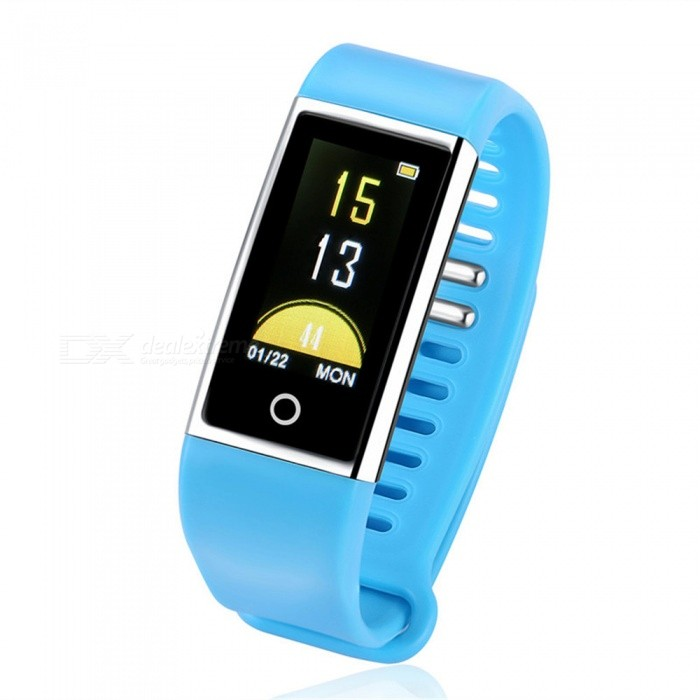 M18 Color Screen Deep Waterproof Smart Bluetooth Bracelet w/ Heart Rate, Blood Pressure, Blood Oxygen Monitoring - BlueSmart Bracelets<br>ColorBlueModelM18Quantity1 pieceMaterialTPEWater-proofIP67Bluetooth VersionBluetooth V4.0Touch Screen TypeIPSOperating SystemAndroid 4.4,iOSCompatible OSAndroid IOSBattery Capacity90 mAhBattery TypeLi-ion batteryStandby Time20 daysPacking List1 x User handbook1 x Host 1 x Packaging<br>