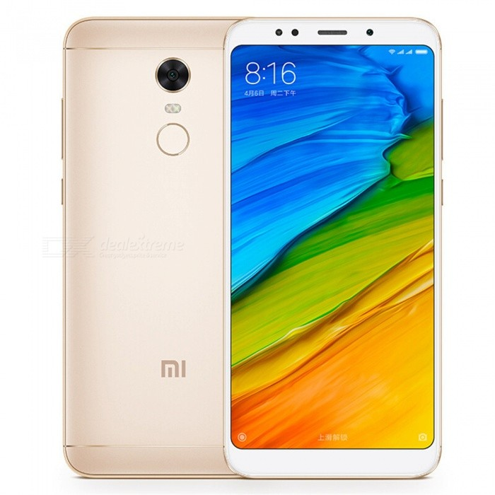 Xiaomi Redmi 5 Plus 4G Phablet International Version 5.99 Phone with 3GB RAM +32GB ROM - GoldenAndroid Phones<br>ColorGoldenBrandXiaomiModelRedmi 5 PlusQuantity1 pieceMaterialAluminum alloyForm  ColorGoldenTypeBrand NewPower AdapterUS PlugHousing Case MaterialAluminum alloyNetwork Type2G,3G,4GBand Details2GGSM B2/3/5/8 2GCDMA 1X BC0 3GCDMA 2000 BC0 3GWCDMA B1/2/5/8 3GTDS-CDMA B34/39 4GTDD-LTE B34/38/39/40/41 4GFDD-LTE B1/3/5/7/8Data TransferGPRS,HSDPA,EDGE,LTE,HSUPAWLAN Wi-Fi 802.11 a,b,g,nSIM Card TypeMicro SIM,Nano SIMSIM Card Quantity2Network StandbyDual Network StandbyGPSYesBluetooth VersionBluetooth V4.2Operating SystemAndroid 6.0CPU ProcessorSnapdragon 625 Octa Core 2.0GHz,Octa CoreCPU Core QuantityOcta-CoreGPUAdreno 506LanguageEnglish, Simplified Chinese, Traditional Chinese, Dutch, Indonesian, Malay, Persian, Danish, German, Estonian, Spanish, French, Zulu, Italian, Swahili, Latvian, Lithuanian, Hungarian, Norwegian, Polish, Portuguese, Romansh, Slovak, Vietnamese, Turkish, Russian, Arabic, Korean, JapaneseRAM3GBROM32GBAvailable MemoryN/AMemory CardN/AMax. Expansion SupportedNOSize Range5.5 inches &amp; OverTouch Screen TypeYesScreen Resolution1920*1080Multitouch10Screen Size ( inches)Others,5.99Screen Edge2.5D Curved EdgeCamera type2 x CamerasCamera Pixel12.0MPFront Camera Pixels5.0 MPVideo Recording Resolution1080p (1920?1080, 30 frames/sec) video recording<br>720p (1280 x 720, 30 fps) video recordingFlashYesAuto FocusyesTouch FocusYesOther Camera FunctionsPDAF phase focus, dark light enhancement, high dynamic range adjustment, panoramic mode, continuous shooting mode, facial recognition, smart beauty 3.0, countdown timerTalk Time8-10 hoursStandby Time180-210 hoursBattery Capacity4000 mAhBattery ModeNon-removablefeaturesWi-Fi,GPS,Bluetooth,OTGSensorG-sensor,Proximity,Compass,Accelerometer,Gesture,Heart rate,BarometerWaterproof LevelIPX0 (Not Protected)Shock-proofNoI/O InterfaceMicro USB,3.5mmTV TunerNoReference Websites== Will this mobile phone work with a certain mobile carrier of yours? ==Packing List1 x Smart phone 1 x Power adapter 1 x Micro USB charging cable 1 x SIM tool 1 x User manual1 x Protective Case (random colors)<br>