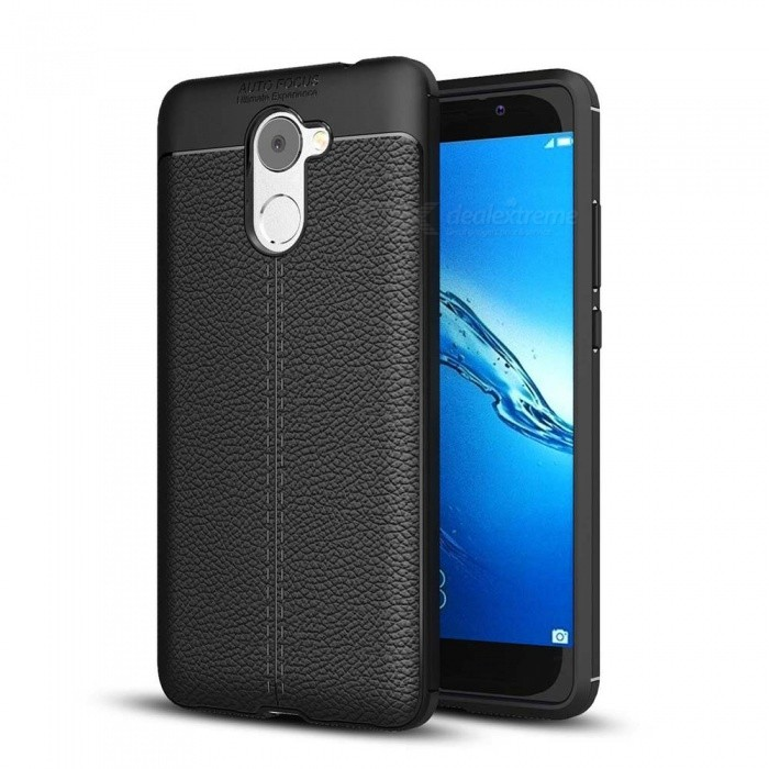 Dayspirit Lichdee Pattern Protective TPU Back Cover Case for Huawei Y7  Prime, Enjoy 7 Plus, Holly 4 Plus - Black