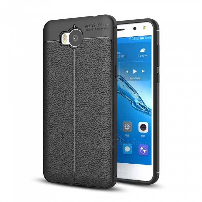 save off ded2d 9b133 Dayspirit Lichdee Pattern Protective TPU Back Cover Case for Huawei Y5  (2017) ,Y5 III , Y5 3- Black