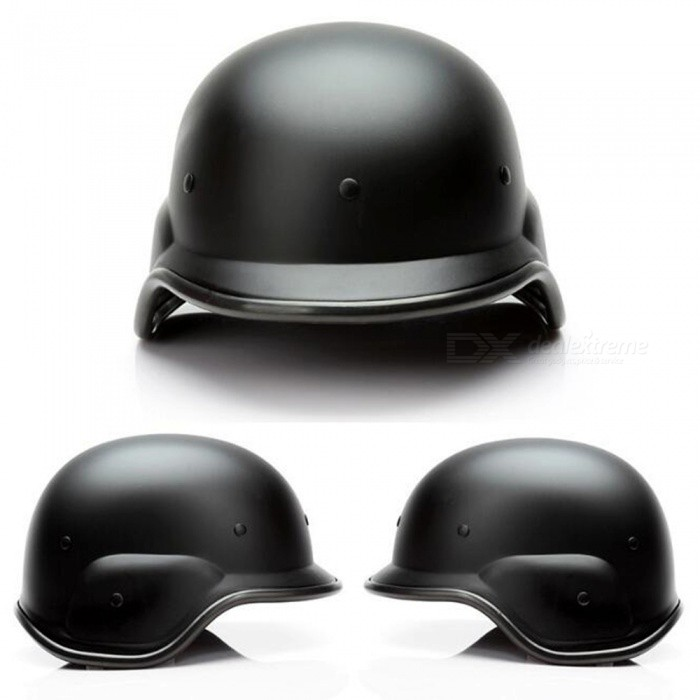 American Style M88 Plastic Outdoor Motorcycling Tactical Helmet with Two Helmet Cover Hoods - Black