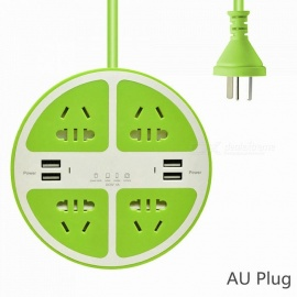 2500W-Circle-5-Hole-Charger-Socket-Power-Strip-with-4-USB-Ports-for-Household-Appliance-Phone-Tablet-(AU-Plug)