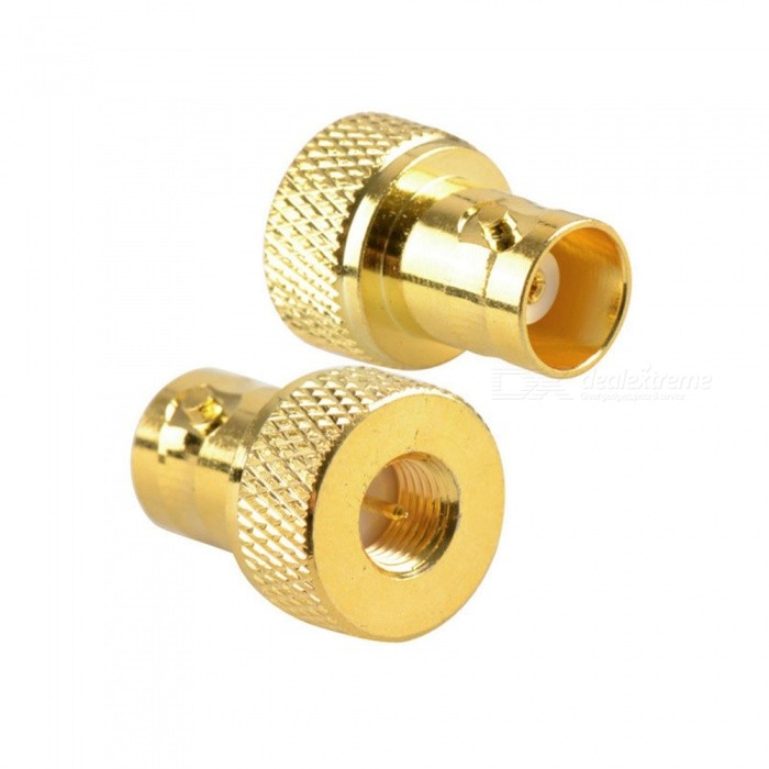 High Quality 2PCS SMA Male to BNC Female Goldplated RF Coaxial Coax Adapters