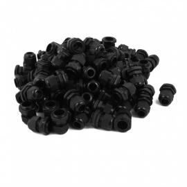 RXDZ-Black-PG135-Water-Resistance-Cable-Gland-Fixing-Connector-Joints-Fastener-(100-PCS)