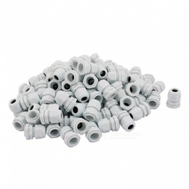 RXDZ-PG11-Water-Resistance-Cable-Gland-Fixing-Connector-Joints-Fastener-White-(100-PCS)