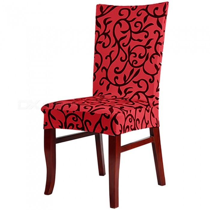 Elastic Half Chair Cover for Hotel Banquet Office - Red